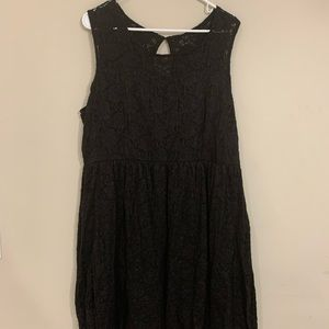 Maurice's Black Lace Dress with Built-In Slip
